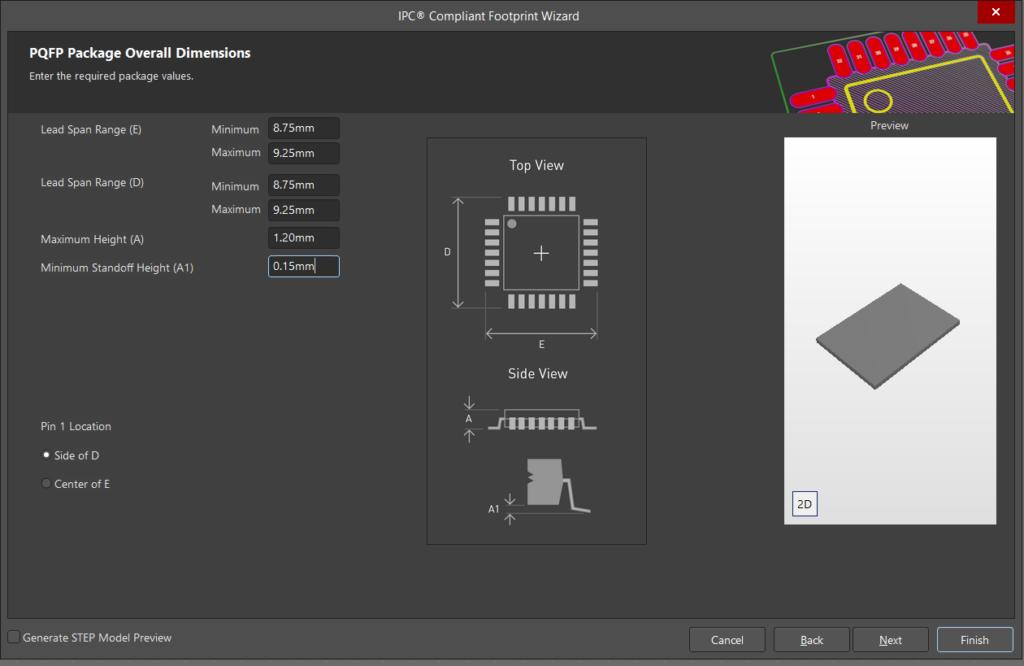 PCB Board Dimensions